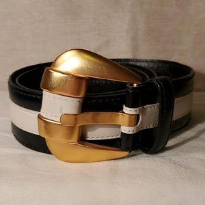 VTG Escada navy blue and white belt
